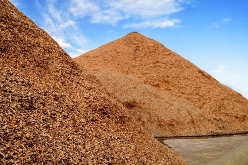 Heap of Wood Chips